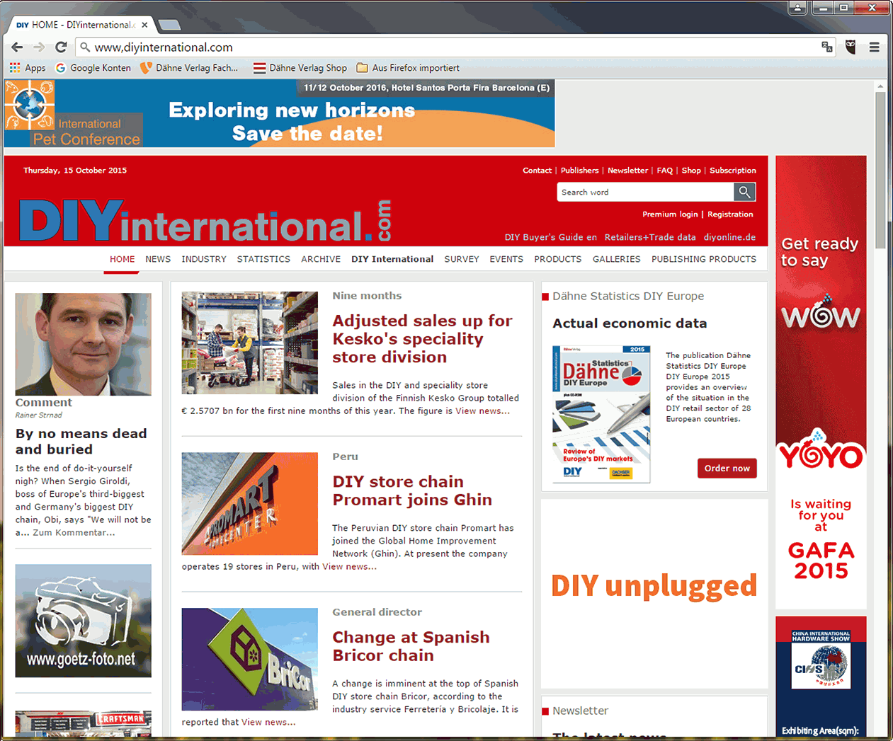DIYinternational.com  -  the web service for the international DIY industry